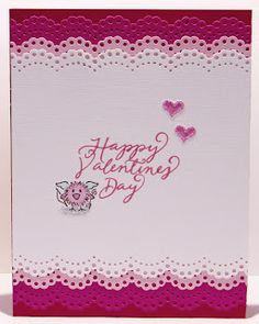 DeNami Valentine Cupid Lace card by @Tina Milbourn