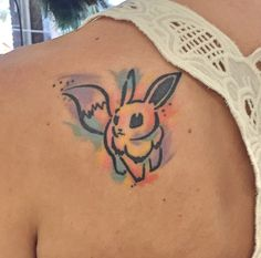 Buntes Eevee Tattoo - Trend Home - Trending Pins Anime Tattoos, Leg Tattoos, Arm Tattoo, Body Art Tattoos, Sleeve Tattoos, Tatoos, Couple Tattoos, Tattoos For Guys, Pokemon Tattoo