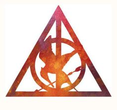 OH LOOK! Its #HarryPotter and #HungerGames! #deathlyHallows #magick #magic #death #muggles #wizards #witches