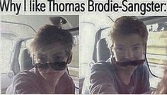 This is one of the many reasons i love Thomas Brodie-Sangster Maze Runner Thomas, Newt Maze Runner, Maze Runner Funny, Thomas Brodie Sangster, Maze Runner Trilogy, Maze Runner Series, Teen Wolf, Single Sein, The Scorch Trials