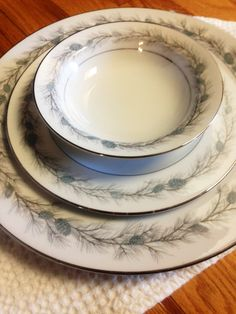 8 Piece Place Setting Fine China Set Style by LittleDixieVintage