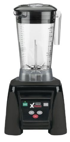 Waring Commercial MX1050XTX Xtreme Hi-Power Electronic Keypad Blender with Raptor Copolyester Container, 64-Ounce Xtreme hi-power blender comes with high-performance 3.5 peak horsepower motor. Includes all-purpose, stackable container which is constructed of BPA-free copolyester material. Features ultra-aggressive stainless steel blade and jar design delivers smoother consistencies and faster resu... #Waring #Kitchen