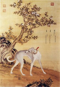 Reverend Giuseppe Castiglione, (Láng Shìníng) (1688 – 1766) was an Italian painter, court artist and Jesuit missionary to the Imperial Qing court in China.Ten Prized Dogs 04.jpg