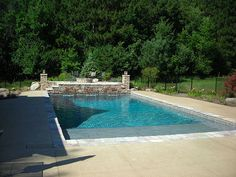 22' x 42' Rectangle Pool with Sun Shelf by BlueWaterPoolP, via Flickr
