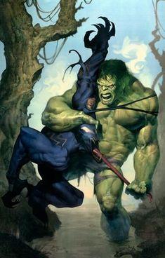 #Hulk #Fan #Art. (Hulk vs Venom) By: Ariel Olivetti. (THE * 3 * STÅR * ÅWARD OF: AW YEAH, IT'S MAJOR ÅWESOMENESS!!!™)[THANK Ü 4 PINNING!!!<·><]<©>ÅÅÅ+(OB4E)
