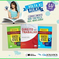 #DicaCia #LivrariaUniversitária Hoje é a vez da Editora Saraiva em nossa LU! ;-)  Tradição que resulta em grandes títulos!   Clique aqui e confira a seleção! Vem. -> http://profhorac.io/ck