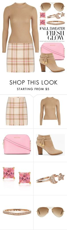 """Cozy Fall Sweaters 2410"" by boxthoughts ❤ liked on Polyvore featuring MARC CAIN, Topshop, MICHAEL Michael Kors, White House Black Market, Sevil Designs, Accessorize, Repossi, Ray-Ban and fallsweaters"