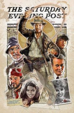 Indiana Jones - Saturday Evening Post. Après avoir joué l'archéologue au cinéma, Harrison Ford soutient ensuite le travail des archéologues professionnels.