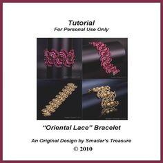 Beading Tutorial  Oriental Lace Beaded Bracelet by SmadarsTreasure, $15.00