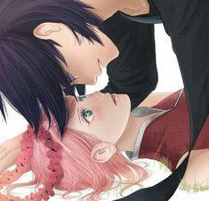 naruto, kiss, and sasuke 이미지