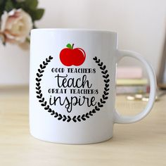 """Black & Red Coffee Mug says """"Best Teacher Ever"""". Makes great gift for Teacher. ❤ ABOUT JOYFUL MOOSE MUGS ❤ - 11 oz Ceramic Coffee Mugs - dishwasher and microwave safe - ready for gift giving packaged"""