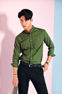 Stand Collar Classic Fit Shirt | $26.00