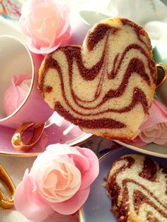 Heart Shaped Marble Cake