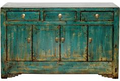 19th-C. Gansu  Buffet---This is an original piece which retails @ $2399.00...BUT what an inspiration for a shabby chic make over