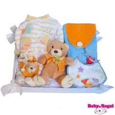 CANASTILLA BABY COLORES. Cesta para bebé. Canastilla para recién nacido. Regalo para bebé