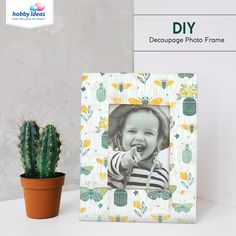 Doesn't everyone have the trouble that white picture frames are so boring, and it's expensive to get nice ones?  Now create funky photo frames with Fevicryl Modge Podge in a jiffy. Pick our your favourite prints and use the decoupage technique to transform your photo frame.