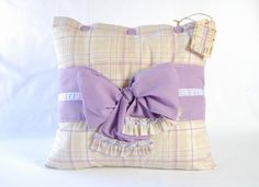 Country lavender pillow cover / Living room by RevesCreazioni