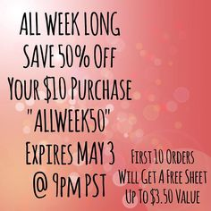 All Week Long! Save 50% Off Your Purchase Of $10 Plus If Your The First Ten Orders You Will Get A Free Sheet Up To $3.50 Value ! This Is How It Works ! Place Your Order & If You Make The 10 Order List You Will Get A Message From Me & All You Have To Do Is Send Me The Name Of The Free Sheet You Want  #filofax #kikkik #targetonespot #planner #plannerjunkie #planning #planneraddict #etsy #plannerclips #planner #stickeraddict #plannerlove #etsy #plannerstickers #weloveec #erincondren…