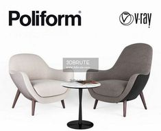 Poliform MAD Queen Armchair 3dmodel 797 - Download -3d Models Free -3dbrute Ikea Stocksund, Sofa Italia, Ikea Stockholm, Wing Chair, 3d Max, Bar Stools, Armchair, Dining Chairs, Lounge