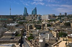 "Baku, Azerbaijan   ""Layered cityscape"" by Ilkin Kangarli, via 500px."