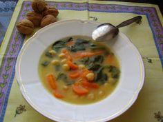 Sopa de Garbanzos, Zanahorias y Espinacas.  El Recuncho de Sol