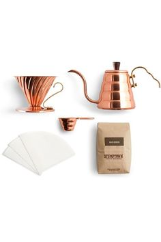 15 Cool Gift Sets That Don't Feel Lazy #refinery29  http://www.refinery29.com/holiday-gift-sets#slide-7  Your coffee-obsessed roommate has just about every gadget in the book, but this (seriously adorable) copper kit will help take her morning ritual to the next level.Stumptown Coffee Roasters Copper Kit, $240, available at Stumptown Coffee Roasters....