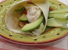Grilled Fish Tacos W/ Chipotle Crema