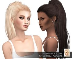 My Sims 4 Blog: Stealthic Paradox Hair Retexture in 64 Colors by MissParaply