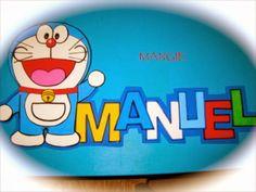 Artemangie: LETRERO NOMBRE DORAEMON- GOMA EVA Doraemon, Stall Signs, Jelly Beans, Names, Doors