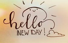Handlettering by Wiek - Hello new day
