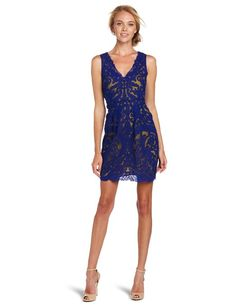 Yoana Baraschi Women's New Wave Party Dress, X-Blue/Fool's Gold, 2