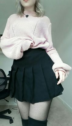 pastel goth outfit that is kawaii - - Aesthetic clothes pastel - Edgy Outfits, Mode Outfits, Outfits For Teens, Pretty Outfits, Girl Outfits, Fashion Outfits, School Outfits, Summer Outfits, Grunge Outfits
