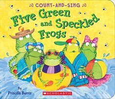 Buy Five Green and Speckled Frogs: A Count-And-Sing Book by Priscilla Burris at Mighty Ape NZ. Five green and speckled frogs sat on a speckled log, eating some most delicious bugs. Preschoolers will delight in this fun, repetitious r. Pre K Age, Frog Sitting, Sing Along Songs, Preschool Songs, Free Books Online, Math Concepts, Book Authors, Free Reading, Teaching Kids