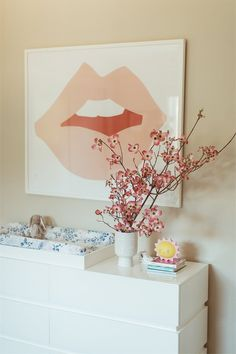 nursery art with mouth