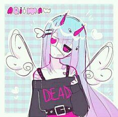 Scary Drawings, Sweet Drawings, Cute Kawaii Drawings, Cool Art Drawings, Cool Anime Girl, Cute Anime Pics, Kawaii Anime Girl, Kawaii Art, Anime Chibi