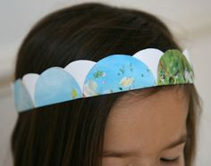 DIY : une couronne avec des cercles de papier | La cabane à idées Papier Diy, Diy Hat, Washi Tape, Mardi Gras, Diy For Kids, Crafts, Magazine, Collage, Ms