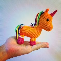 Free Crochet Pattern: Unicorn (made almost without sewing) - Free pattern
