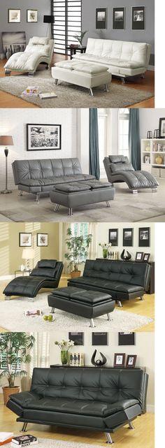 Living Room Sofa Set Chair Modern 3 pc 3pc Black Bundle Furniture