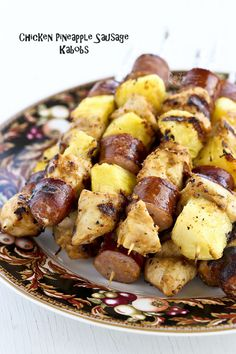 Quick, easy, and delicious kabobs with a peanut butter hot sauce marinade | Food to gladden the heart at RotiNRice.com #RotiNRice