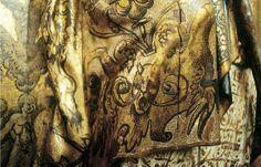 Ondare. Estoffado : Pinceau sur l'or. grotesques. San Ambrosio.
