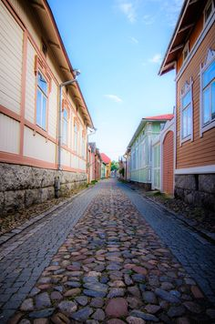 The Old Town of Rauma (Vanha Rauma), a Finnish seaside settlement on its western shores, in Finland