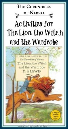 Chronicles of Narnia Activities for The Lion, the Witch, and the Wardrobe - Lots of ideas to do with your children as you read the book! Chronicles Of Narnia Books, Homeschool Books, Homeschooling Resources, Homeschool Curriculum, Teaching Resources, Kids Book Club, Book Study, Book Projects, Reading Projects