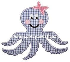 Octopus Applique Design