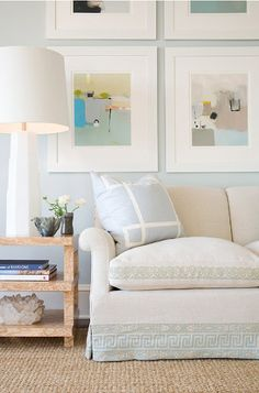 love the trim on this sofa via Laura Casey