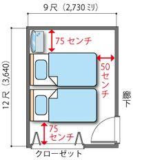 シングルベッド2台の6畳の主寝室 Home Decor Bedroom, My Room, Man Cave, Building A House, Diy And Crafts, House Plans, Projects To Try, Floor Plans, Flooring