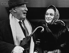 Chagall with wife Vava in 1967