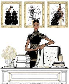 Megan Hess Illustration, Fashion Illustration Sketches, Fashion Sketches, Friday Illustration, Illustration Artists, Art Illustrations, Ilustración Megan Hess, Kerrie Hess, Vogue