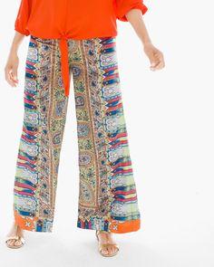 Chico's Women's Petite Mixed Paisley Print Palazzo Pants, Multi, Size: M) Harem Pants, Pajama Pants, Printed Palazzo Pants, Pants For Women, Clothes For Women, Summer Pants, Summer Chic, Skinny Girls, Summer Essentials