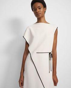 Look Fashion, Fashion Details, Womens Fashion, Fashion Design, Nice Dresses, Casual Dresses, Fashion Dresses, Vestidos Zara, Draped Dress