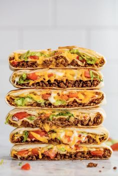 Crunchwrap Supremes and 60+ More Easy Ground Beef Recipes For Cheap, Easy Dinners. #groundbeef #easy #healthy #fordinner #noodles #casserole #pasta #quick #mexican